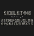 antique old font with skeletons for posters day vector image vector image