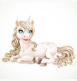 beautiful magic white unicorn with a golden mane