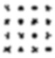 black halftone design elements on white vector image vector image
