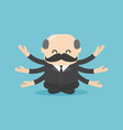 boss businessman sitting for meditation and vector image vector image