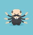 boss businessman sitting for meditation vector image