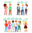 bubble people bubbling speech communication vector image