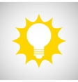 bulb energy light think creative vector image vector image