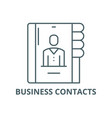 business contacts line icon business vector image vector image