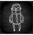 Business Man Drawing on Chalk Board vector image vector image