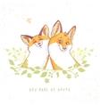 cartoon funny fox vector image vector image