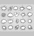 cartoon sketch speech bubbles set vector image vector image