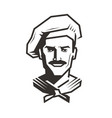 chef logo cook symbol food service vector image vector image