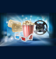 cinema background concept 3d vector image
