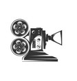 cinema projector isolated on white background vector image vector image