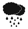 cloud rain icon simple black style vector image vector image