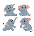 collection of the cute elephant vector image