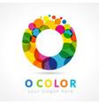 colored o logo creative concept vector image vector image