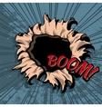 Comic style hole background vector image
