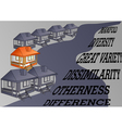 concept of difference vector image vector image