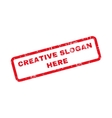 Creative Slogan Here Text Rubber Stamp vector image vector image