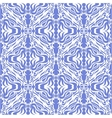 Damask blue seamless background vector image vector image