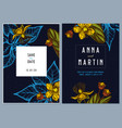 dark wedding invitation card with colored vector image vector image