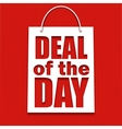 Deal of the day poster with bag vector image vector image