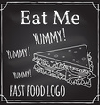 eat me elements on theme restaurant vector image