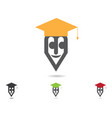 education logo template vector image vector image