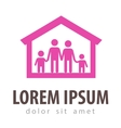 family logo design template house or home vector image vector image