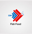 fish food with graphics concept logo iconelement vector image vector image