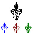 Fleur de lis symbol French lily icon vector image