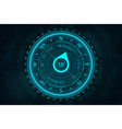 futuristic compass in hud style for ui and ux vector image vector image