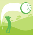 Golfer graphic vector image