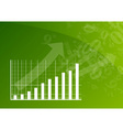 green graph vector image vector image