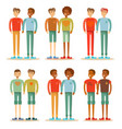 happy gay couple family vector image