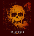 happy halloween skull and bat on rough surface vector image
