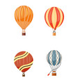 hot air balloon icons set summer vector image vector image