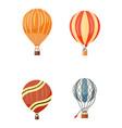 hot air balloon icons set summer vector image vector image