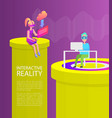 interactive reality people vector image vector image