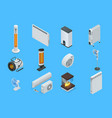 isometric home climate control icons home climate vector image