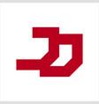 jj jd initials geometric letter company logo vector image vector image