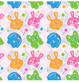 kids rabbit seamless wallpaper vector image vector image