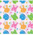 kids rabbit seamless wallpaper vector image vector image