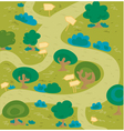 labyrinth wood vector image vector image