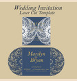 laser cut wedding invitation or greeting vector image vector image