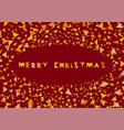 merry christmas colorful cover festive frame with vector image vector image