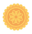 mooncake sweet traditional chinese food isolated vector image vector image