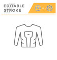 motorcycle shirt line icon vector image vector image