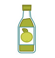 natural organic green apple juice in glass bottle vector image vector image