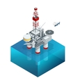 Oil and gas platform in the gulf or the sea The vector image vector image