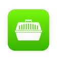 pet carry case icon digital green vector image vector image