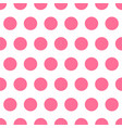 pink seamless pattern background polka dot vector image