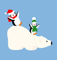 Polar bear and penguins vector image vector image